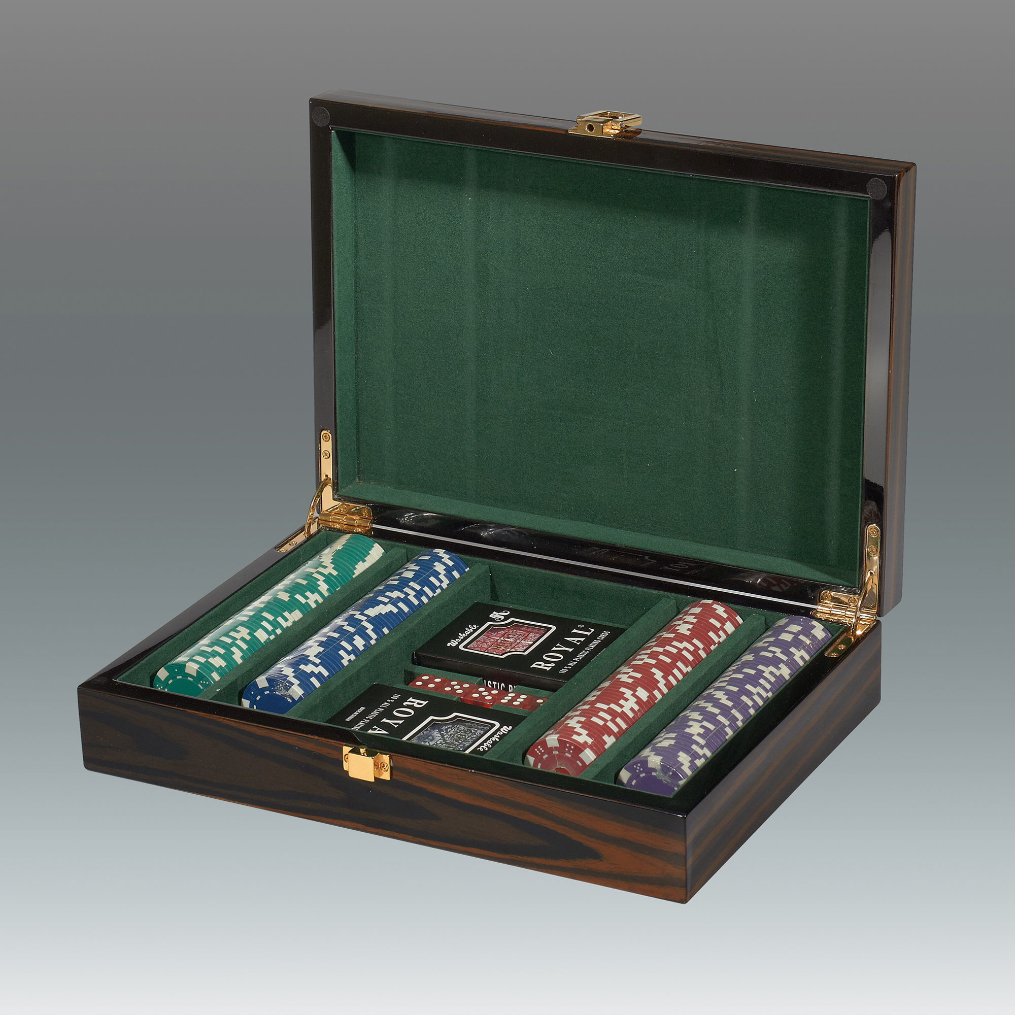 Red Ebony Poker Set