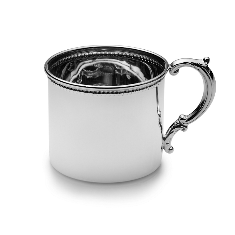 Empire Silver Company Beaded Baby Cup