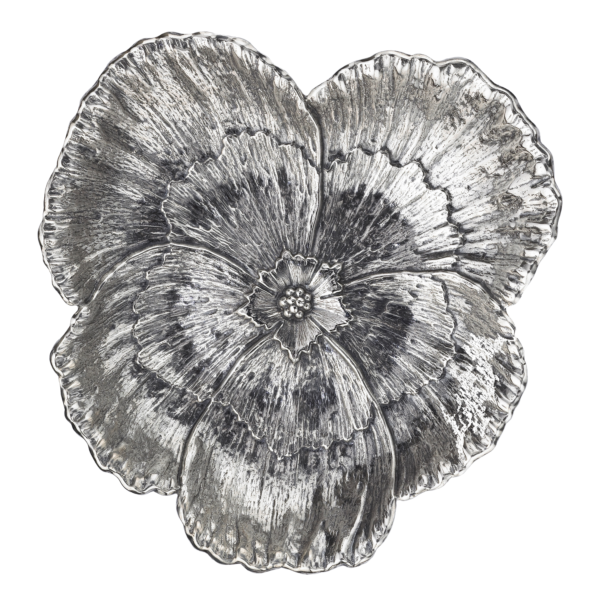 Buccellati Pansy Sterling Silver Dish