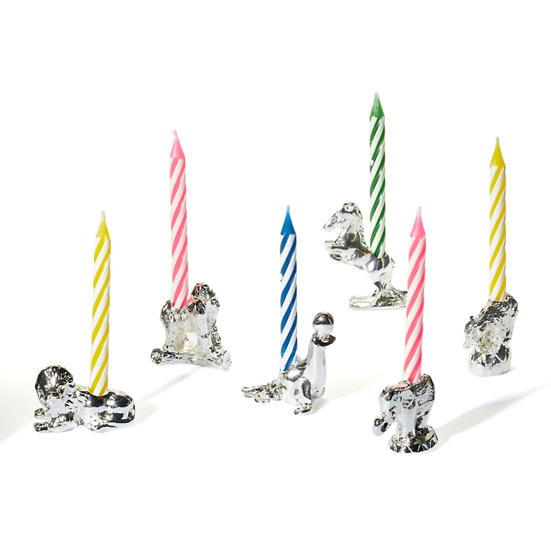 Reed & Barton Circus Birthday Candleholders, Set of 6