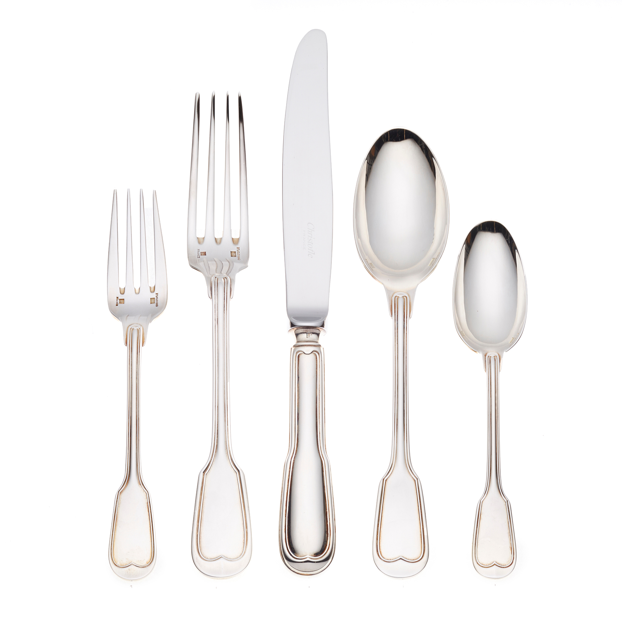 Christofle Chinon Silver Plate Flatware