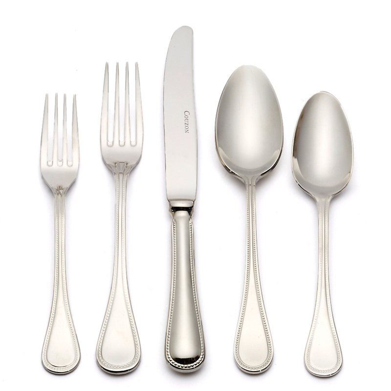 Jean Couzon Le Perle Stainless 5-Pc Place Setting