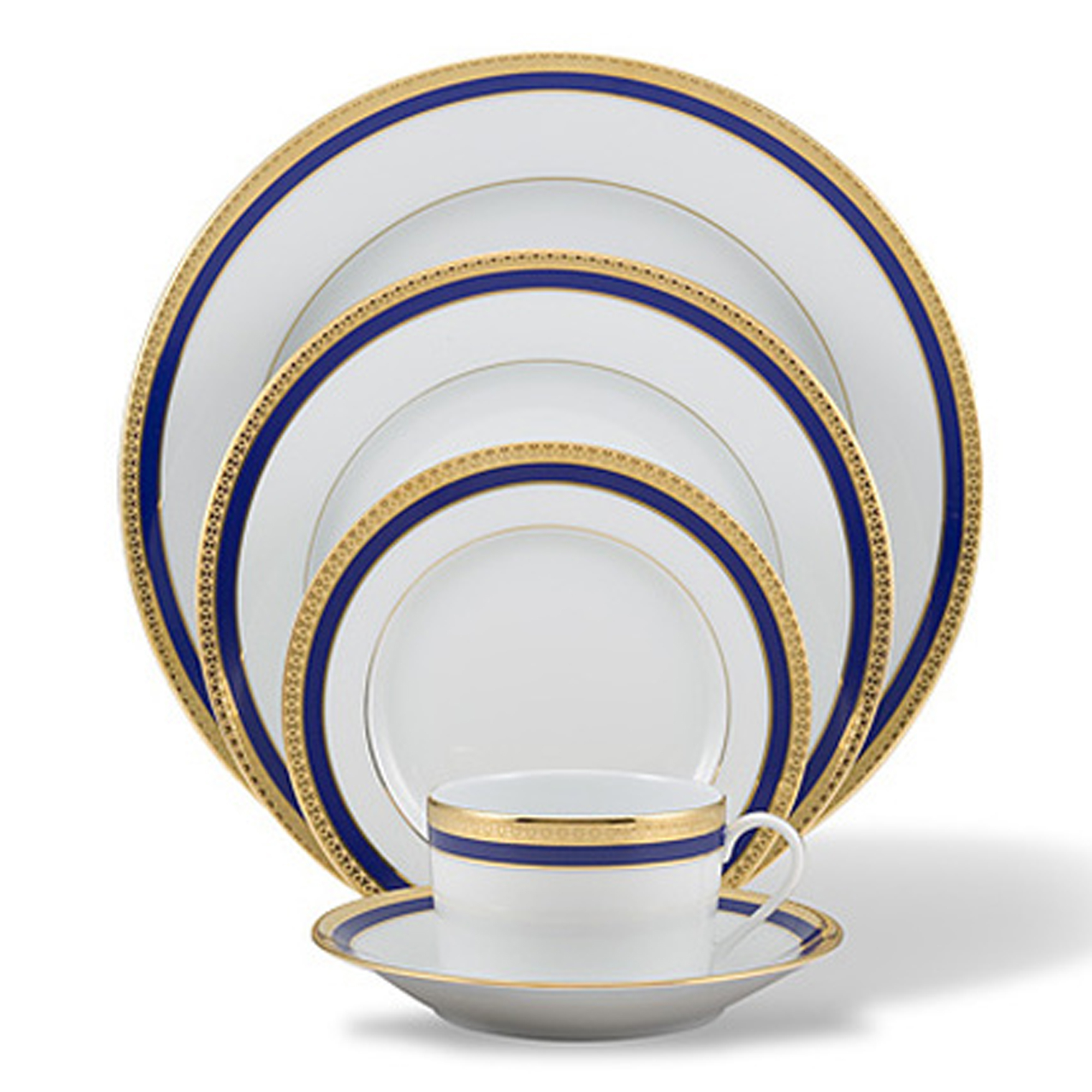 Haviland Symphony Dinnerware, Blue & Gold