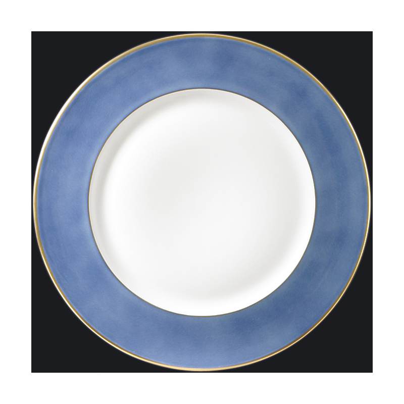 Richard-Ginori Charger with Gold Rim, Light Blue