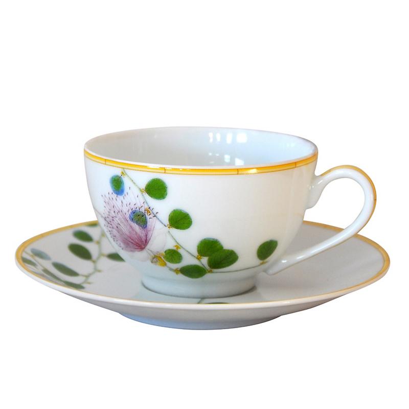 Bernardaud jardin indien cup saucer gump 39 s for Jardin francais jewelry