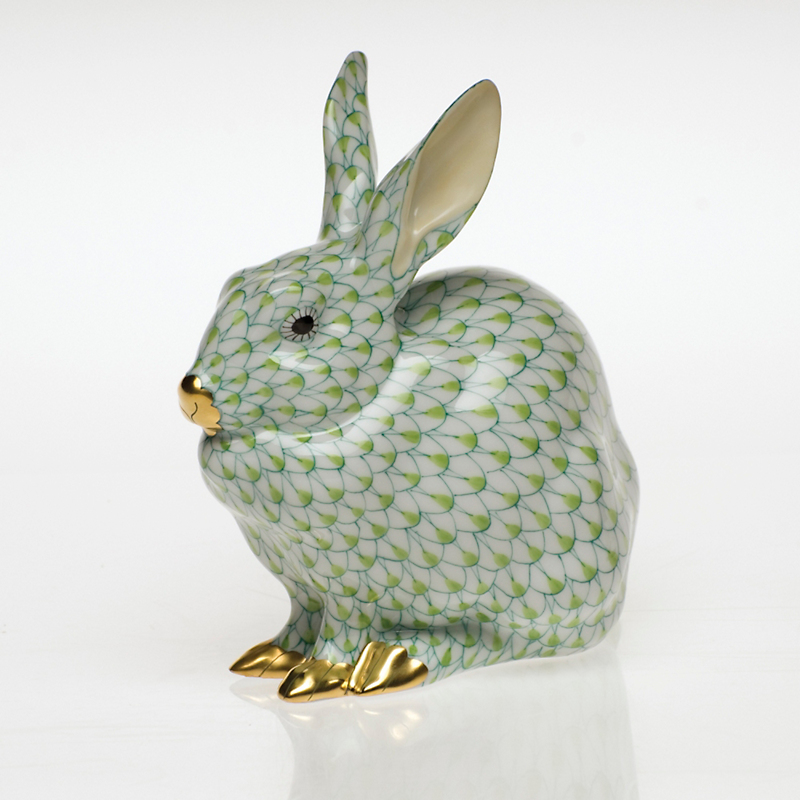 Herend Bunny Sitting, Lime