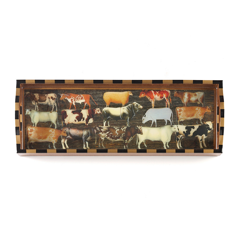 Annie Modica Cow Bar Tray