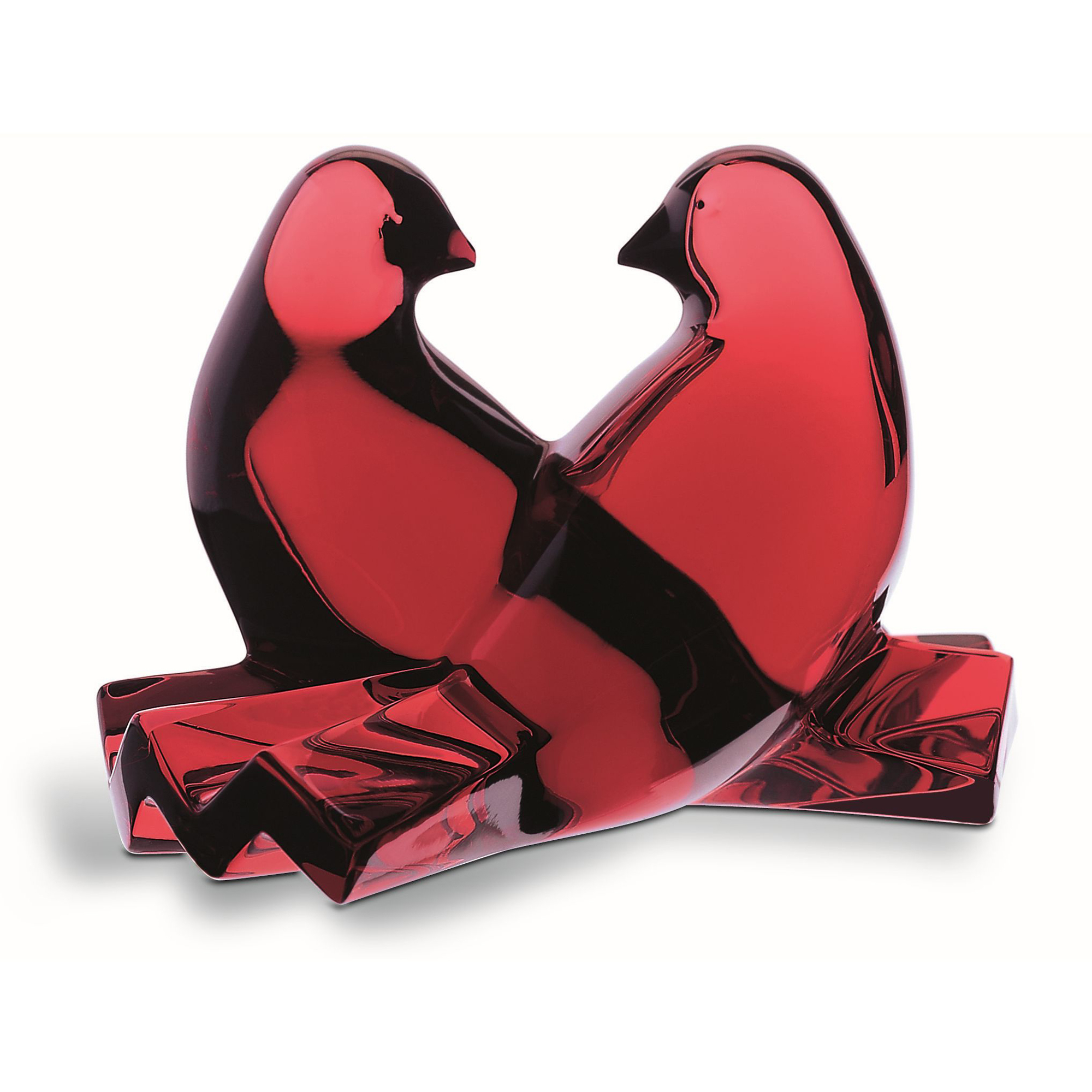 Baccarat Loving Doves, Red