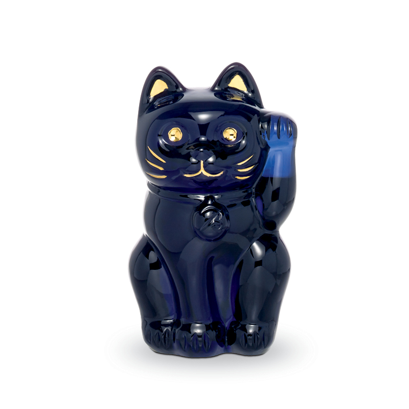 Baccarat Lucky Cat, Midnight Blue
