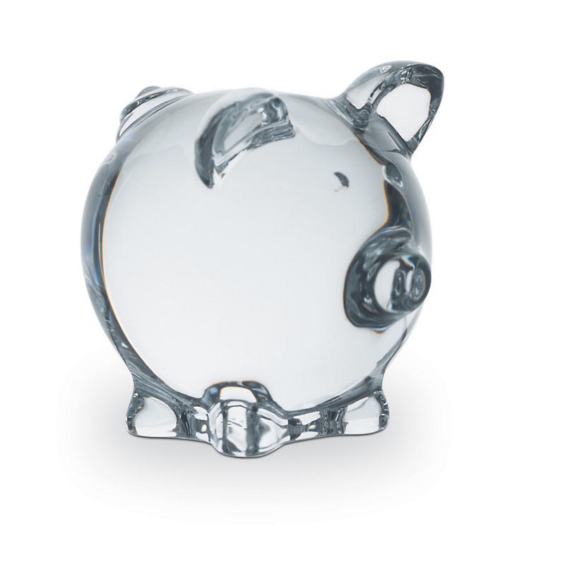 Baccarat Crystal Pig, Clear