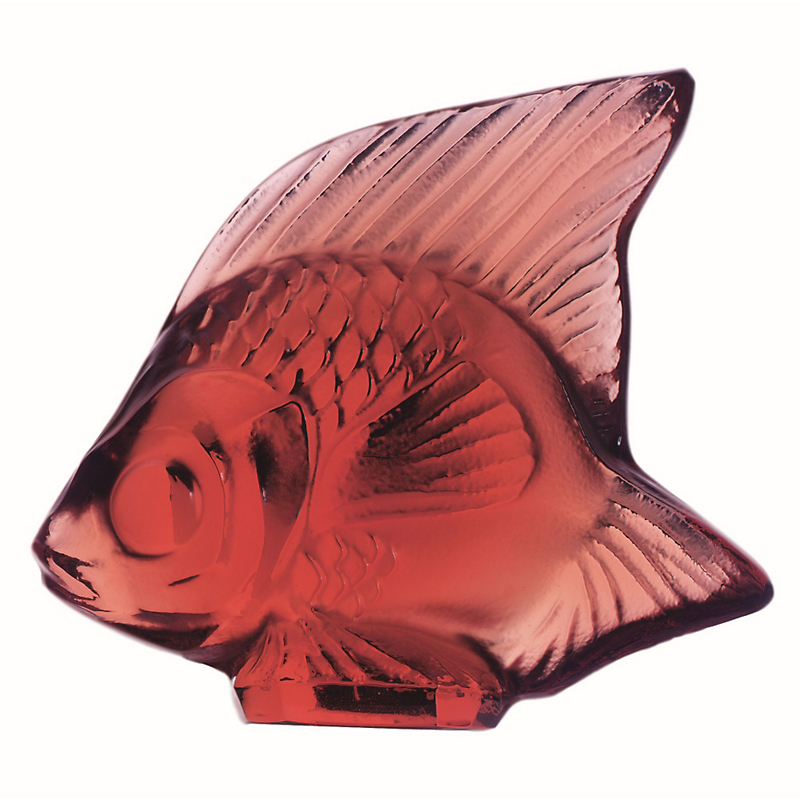 Lalique Fish, Red