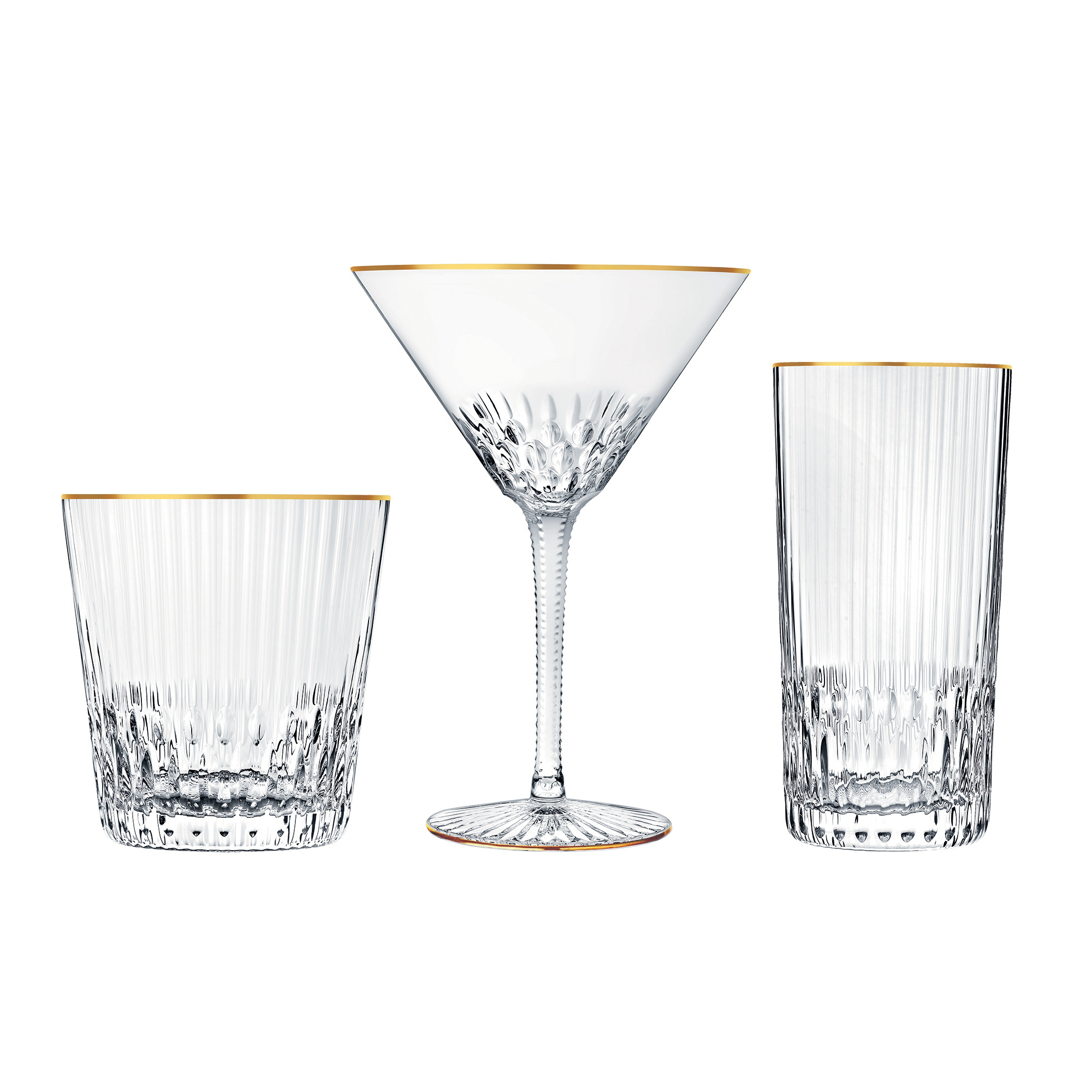 Saint-Louis Apollo Gold Glassware