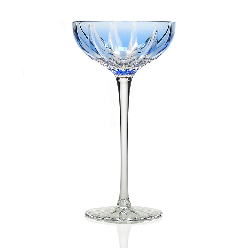 William Yeoward Crystal Vita Coupe Cocktail Glass, Blue