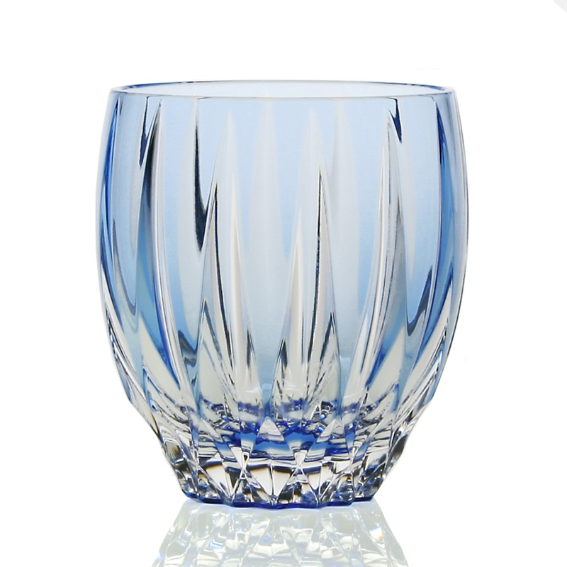 William Yeoward Crystal Vita Double Old-Fashioned Tumbler, Blue
