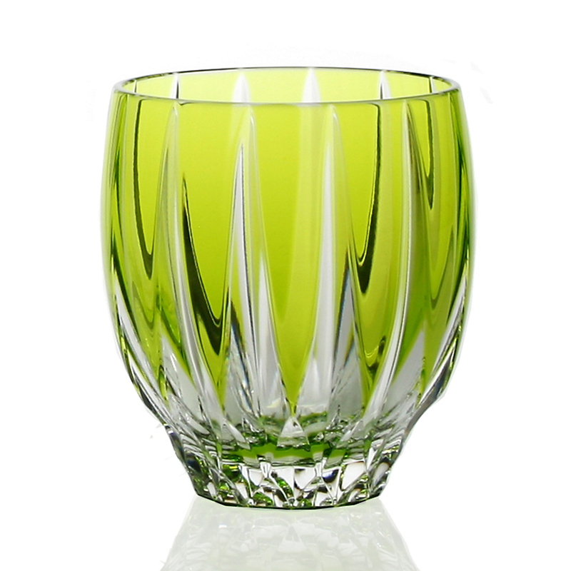 William Yeoward Crystal Vita Double Old-Fashioned Tumbler, Green