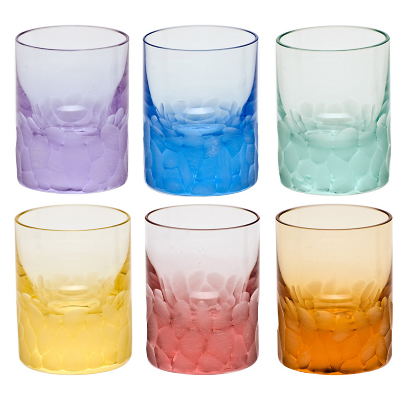 Moser Pebbles Shot Glasses, Set of 6 Assorted Colors