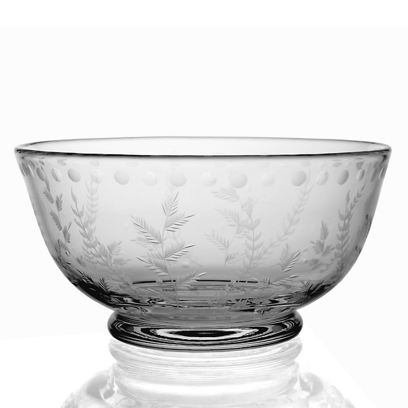William Yeoward Crystal Fern Centerpiece Bowl
