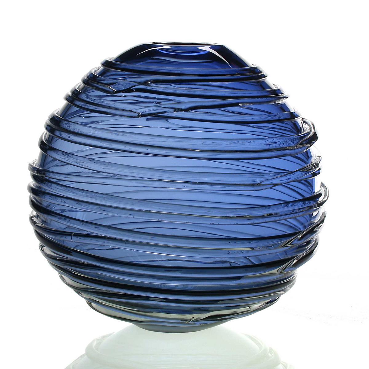 William Yeoward Sophie Vase Steel Blue Gumps