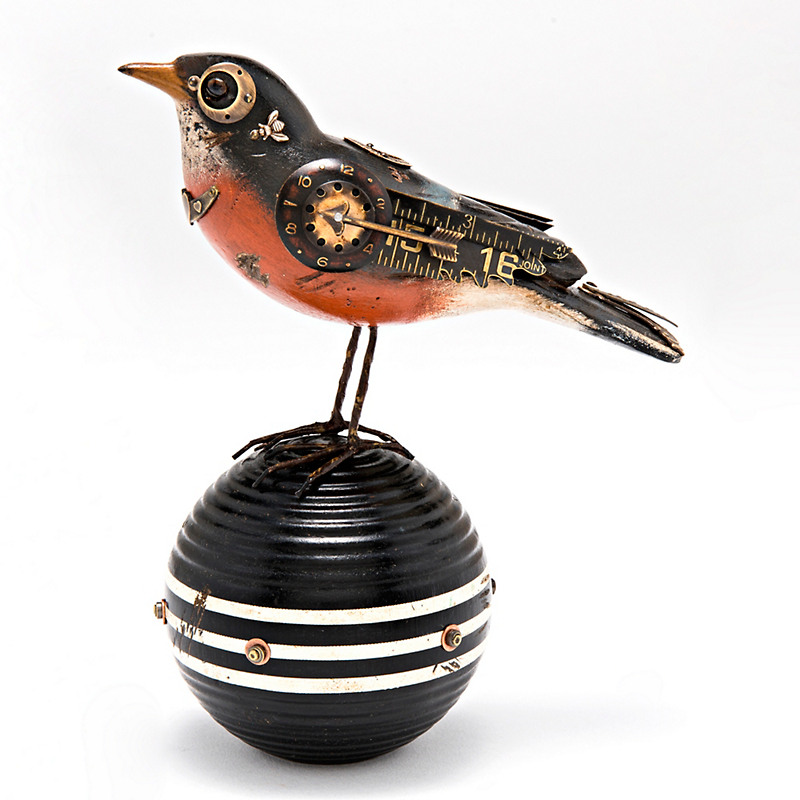 Mullanium Jewelry Robin On Croquet Ball