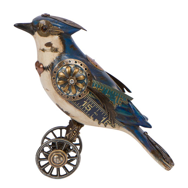 Mullanium Jewelry Blue Jay On Wheels