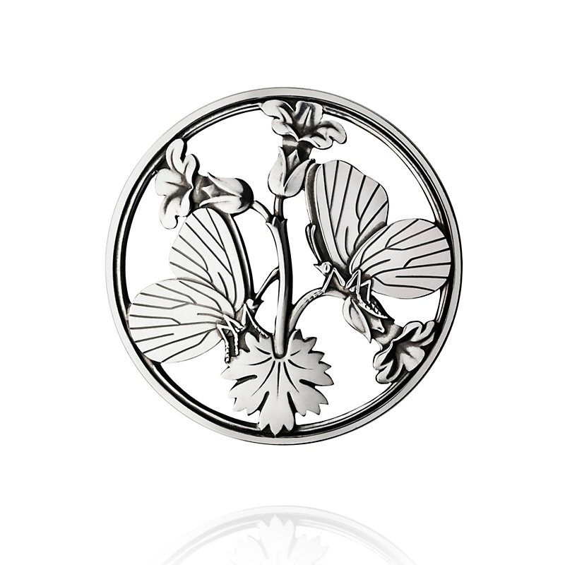 Georg Jensen Moonlight Blossom Sterling Silver Butterfly Brooch