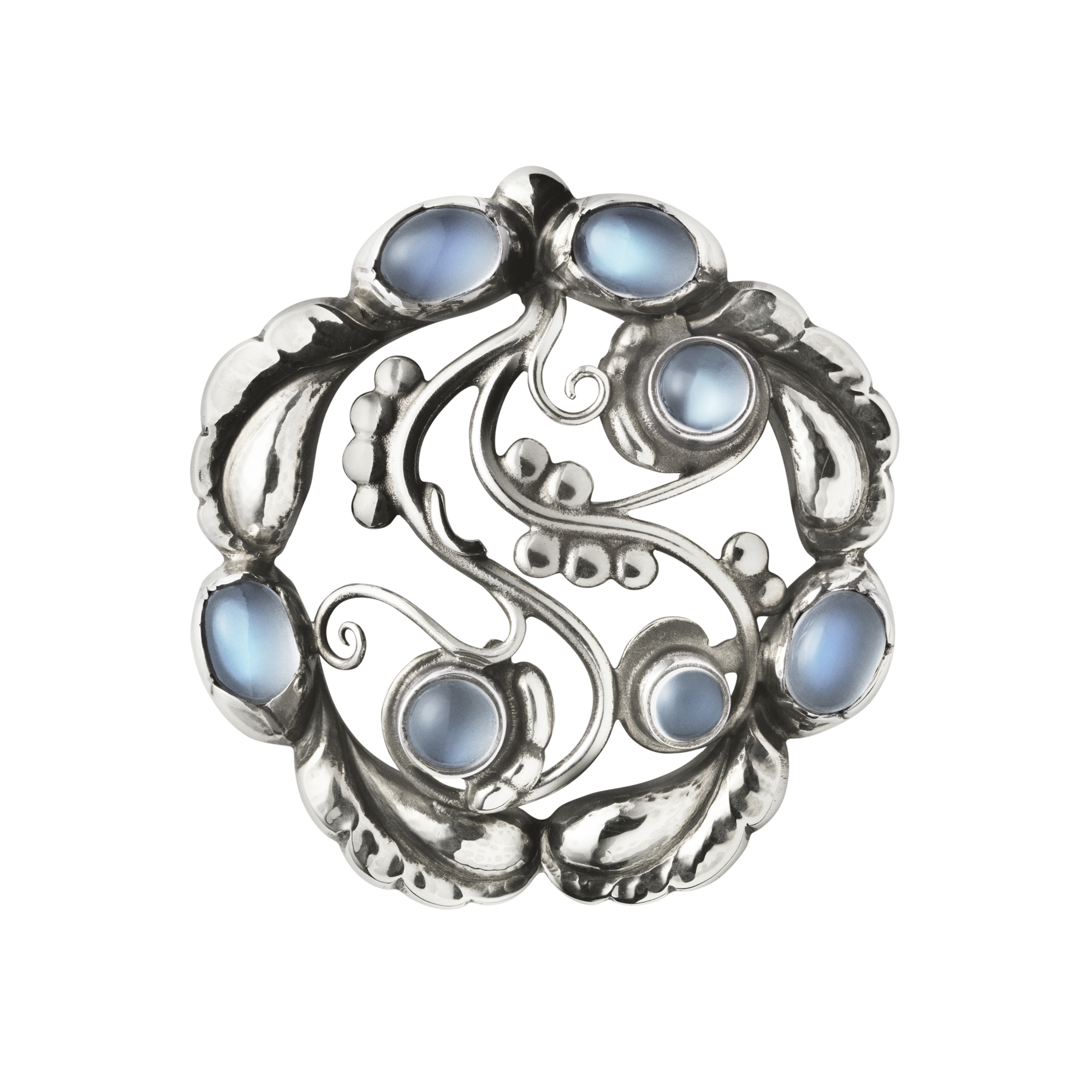Georg Jensen Moonlight Sterling Silver Moonstone Brooch