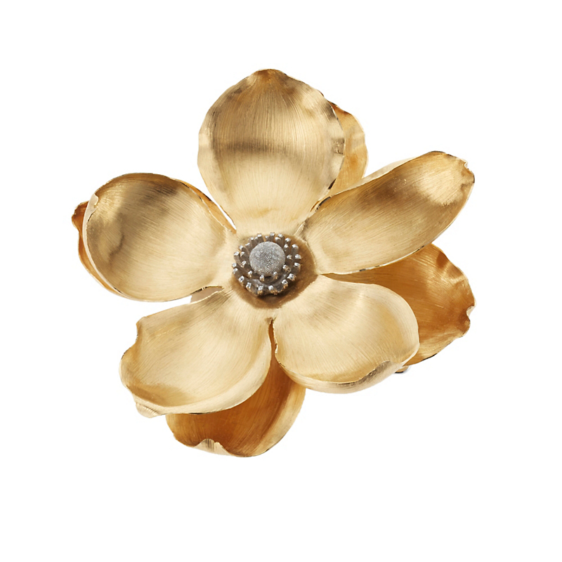 Buccellati Yellow and White Gold Magnolia Brooch