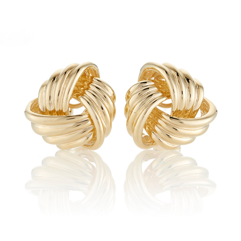 Large Knot Gold Earrings
