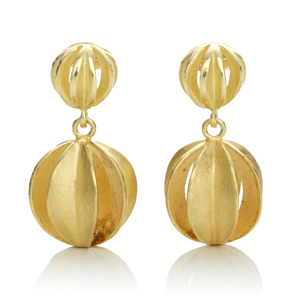 Barbara Heinrich Double Balloon Drop Earrings