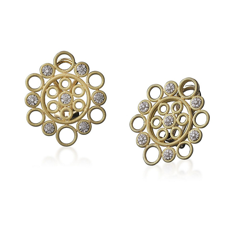 Buccellati Maria Button Earrings