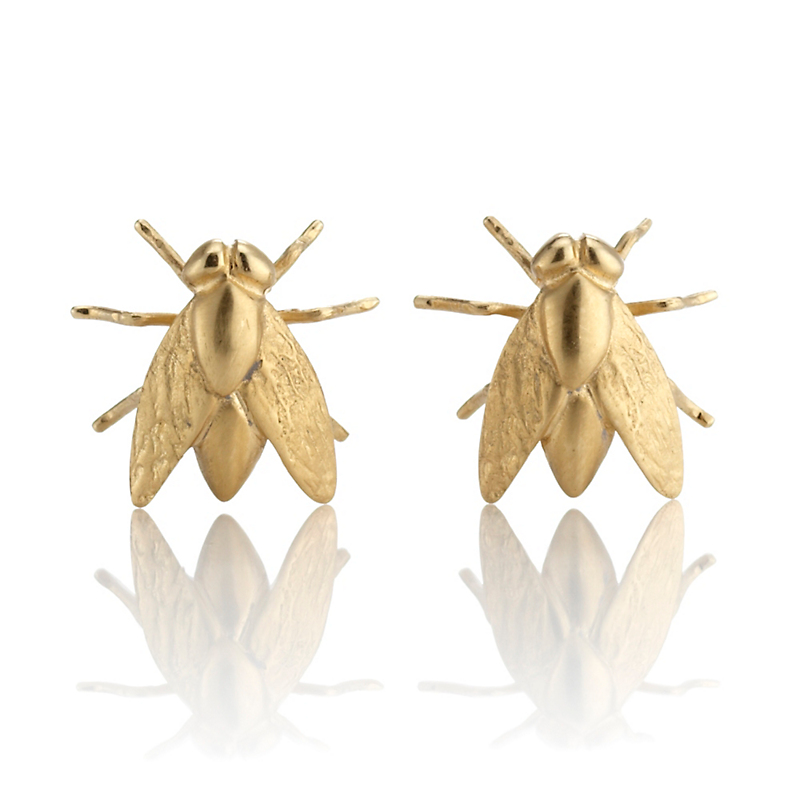 Gabriella Kiss Gold Fly Stud Earrings