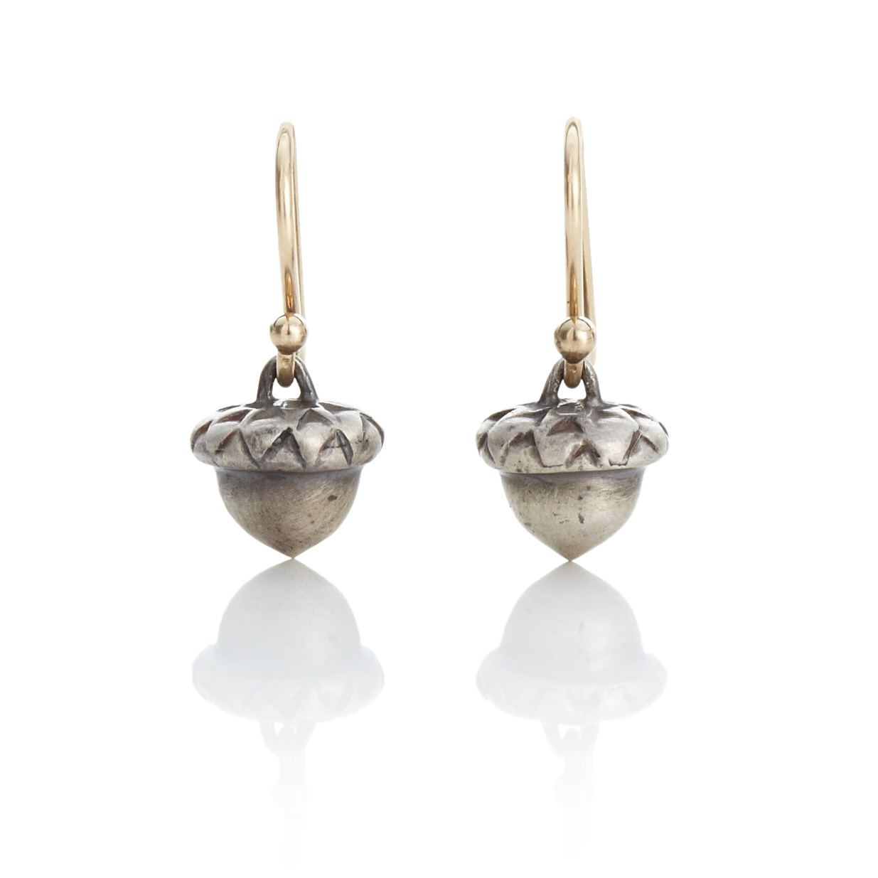 Gabriella Kiss Sterling Silver Acorn Earrings