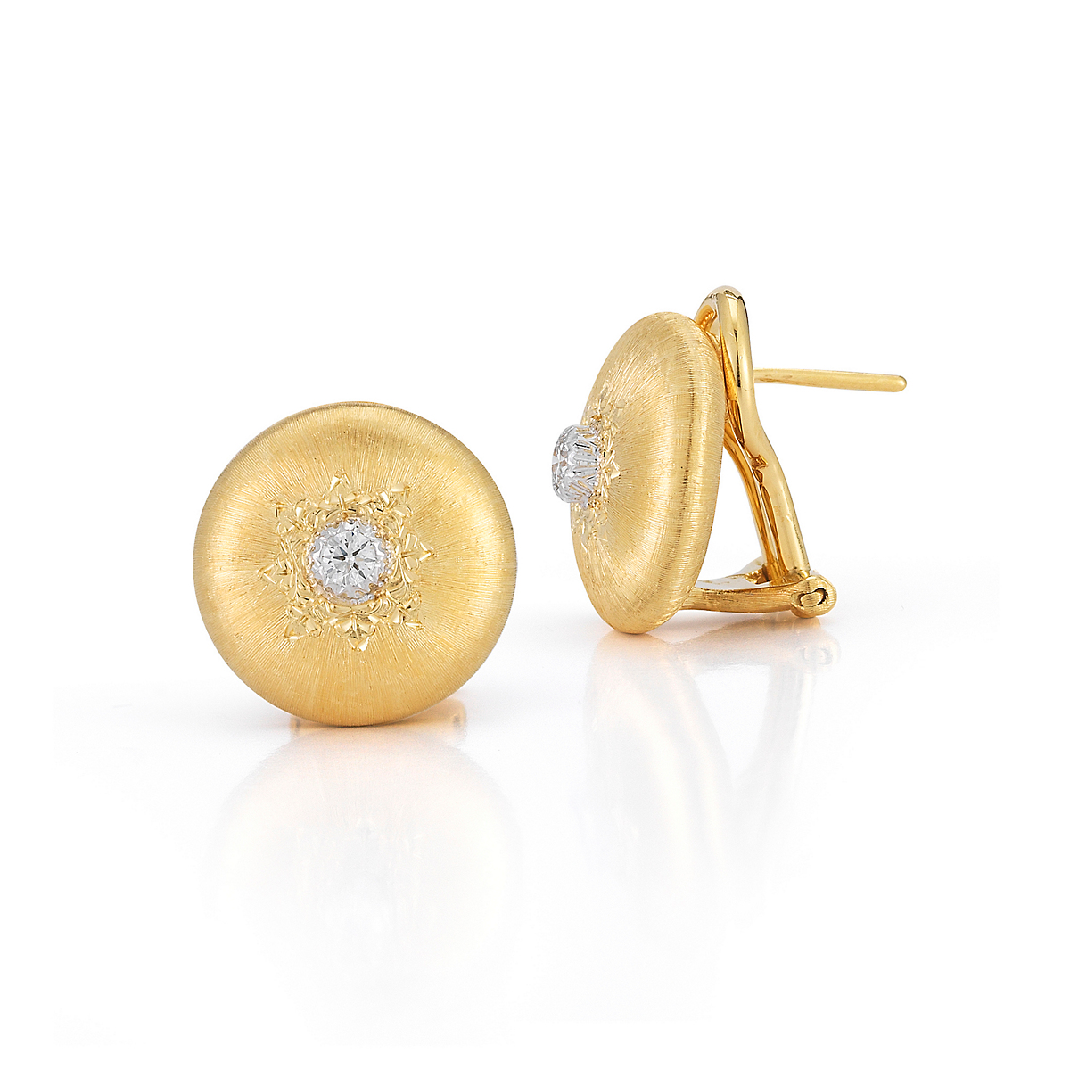 Buccellati Classica Button Earrings