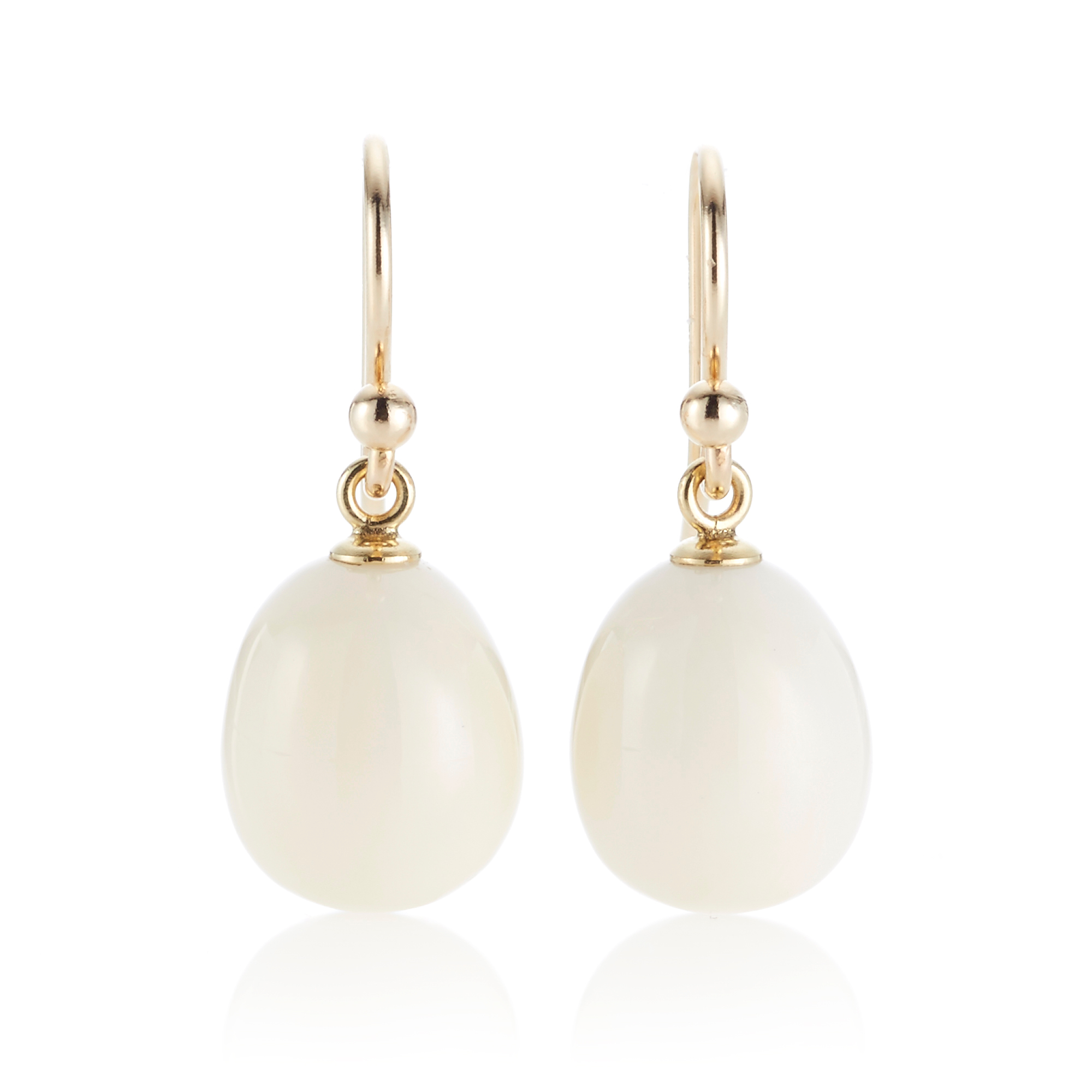 Gump's White Coral Drop Earrings