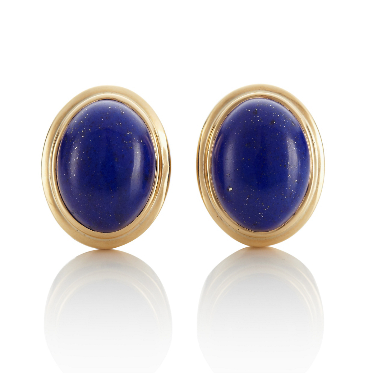 Lapis Double Bezel Earrings