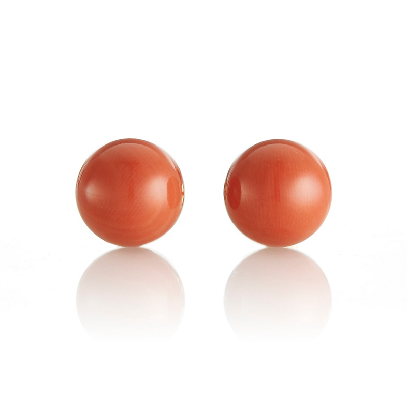 Gump's Rouge Coral Stud Earrings