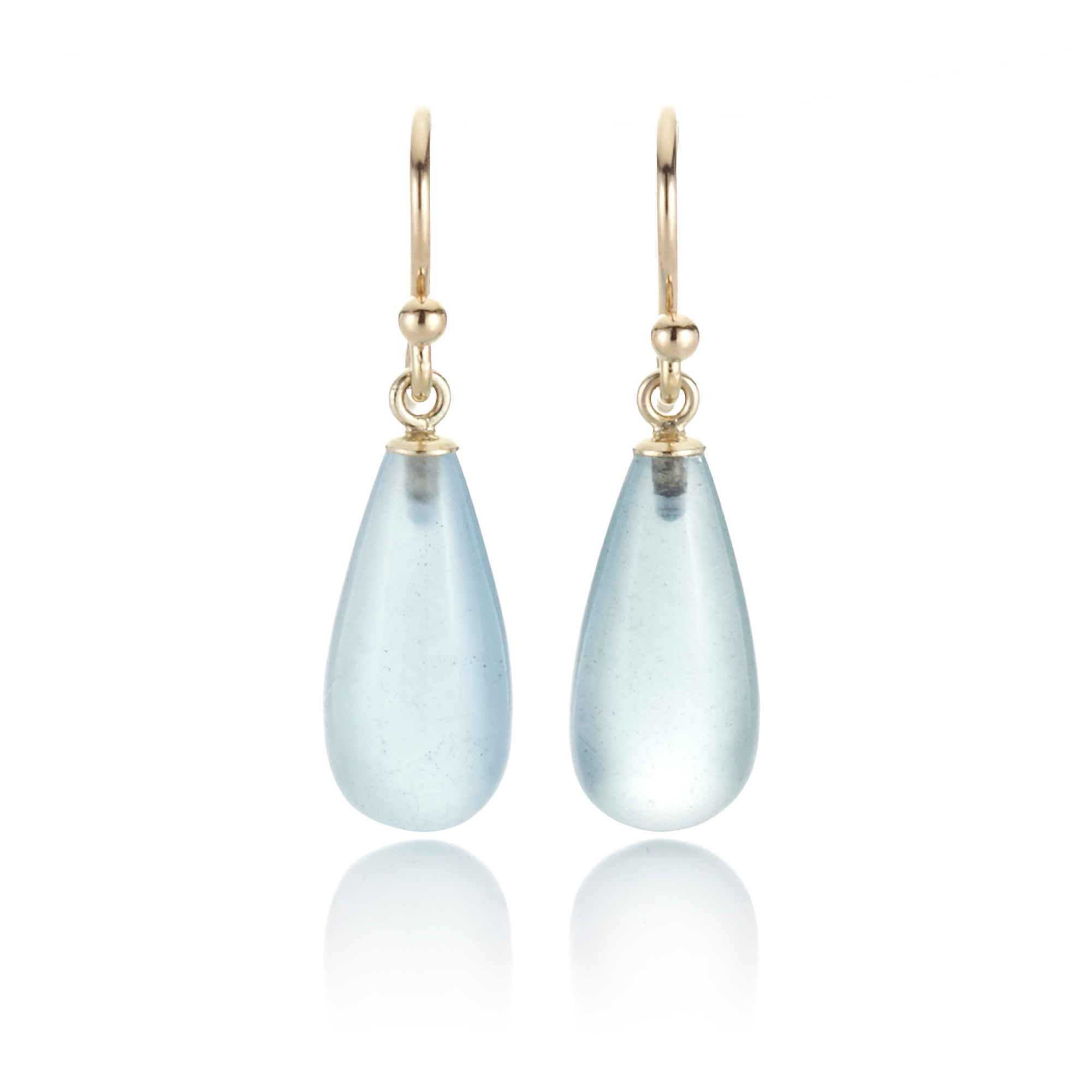 Gump's Small Aquamarine Drop Earrings
