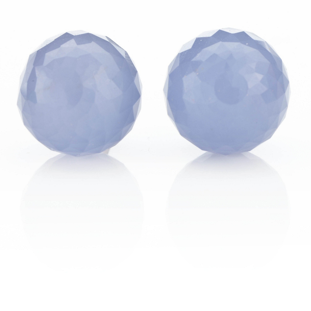 Gump's Chalcedony Faceted Bead Earrings