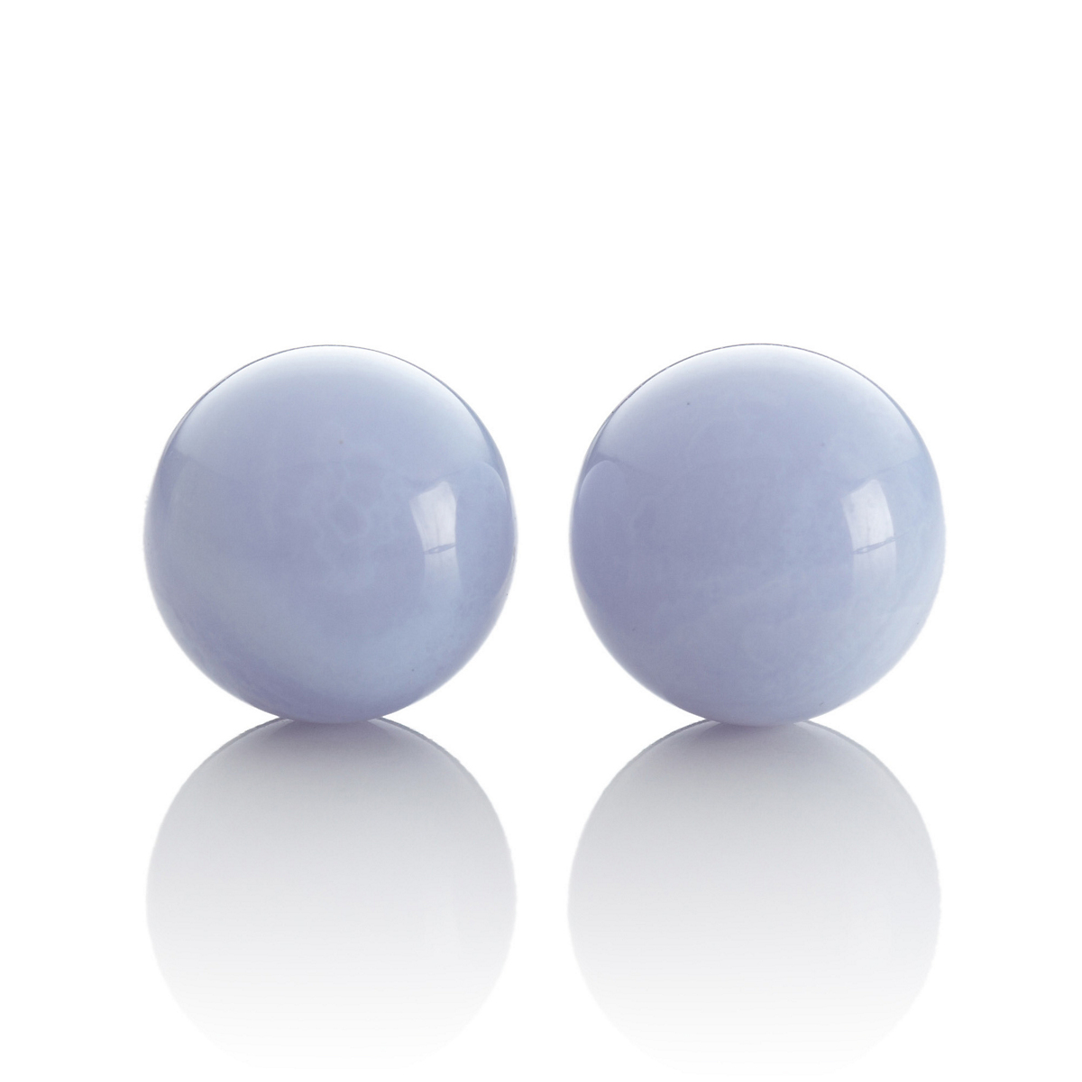 Gump's Blue Lace Agate Bead Earrings