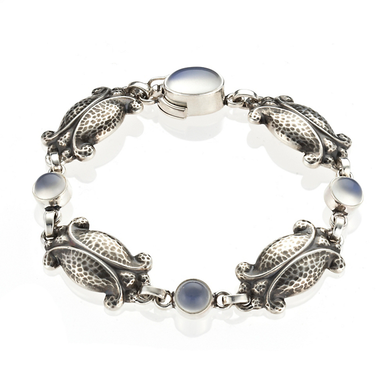 Georg Jensen Moonlight Sterling Silver Moonstone Bracelet