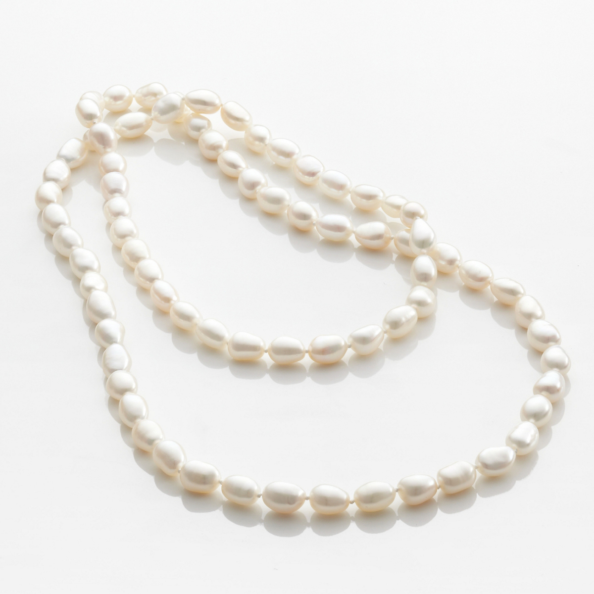 Gump's Baroque Pearl Rope Necklace