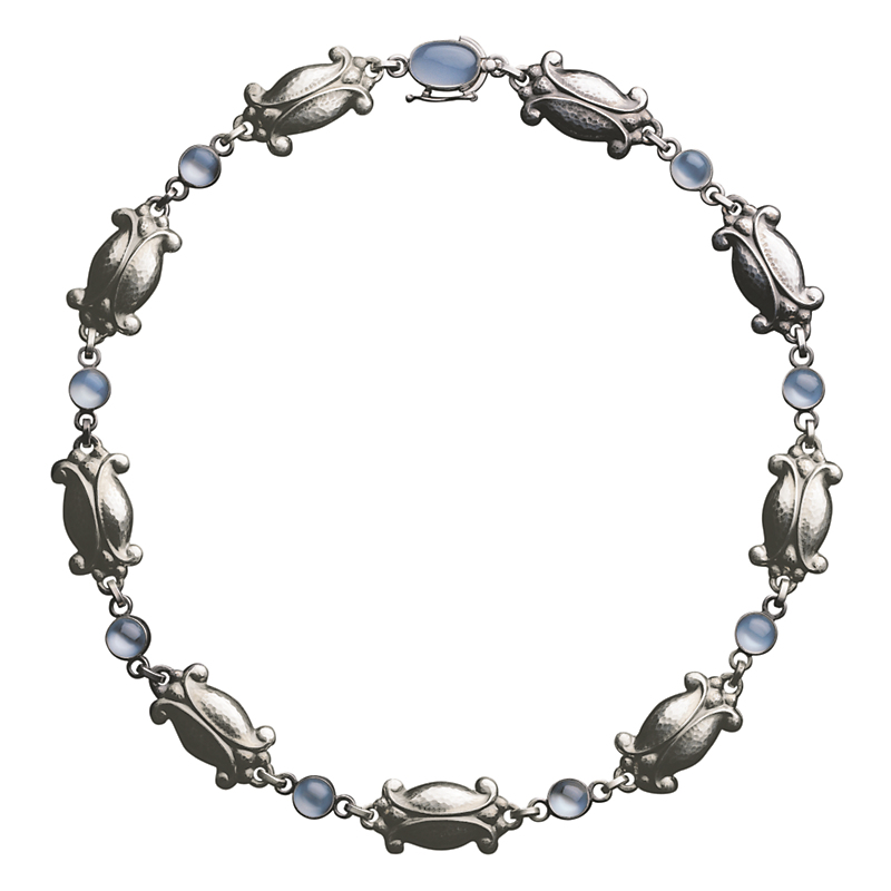 Georg Jensen Moonlight Blossom Sterling Silver Moonstone Necklace