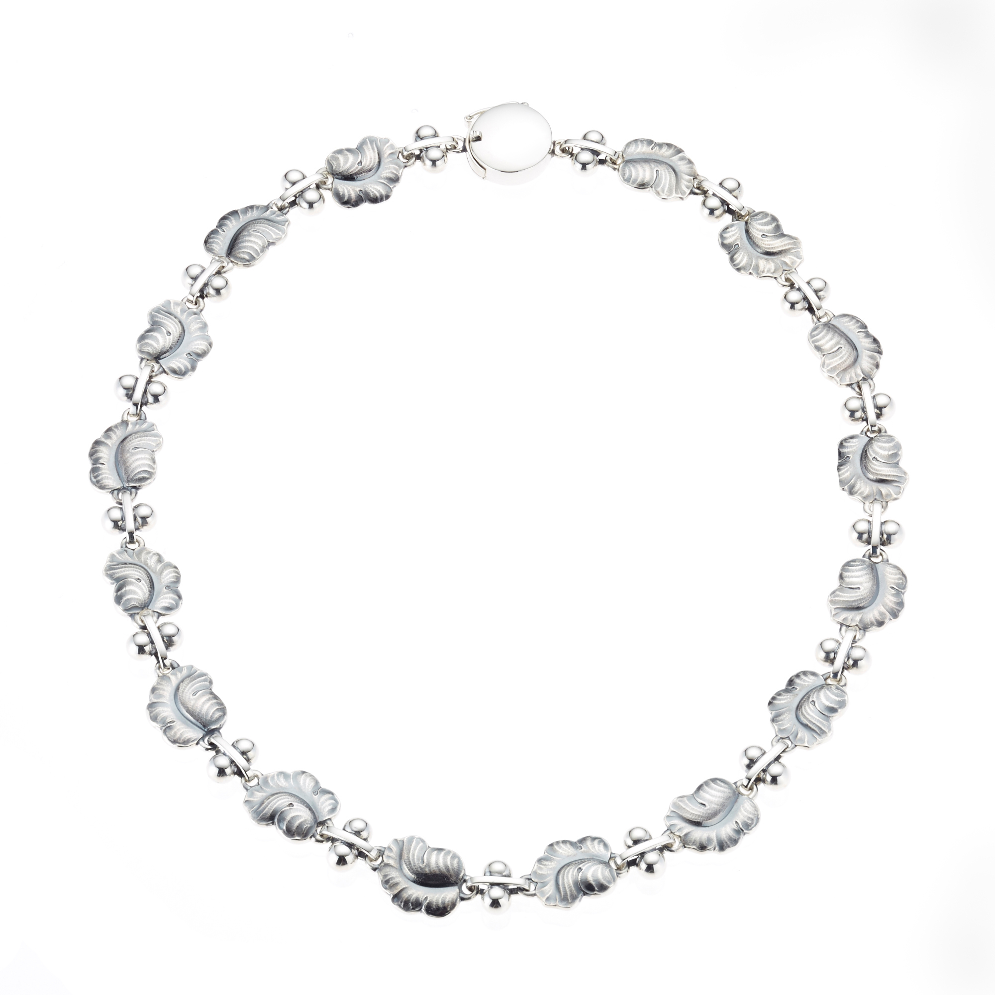 Georg Jensen Moonlight Grapes Sterling Silver Necklace