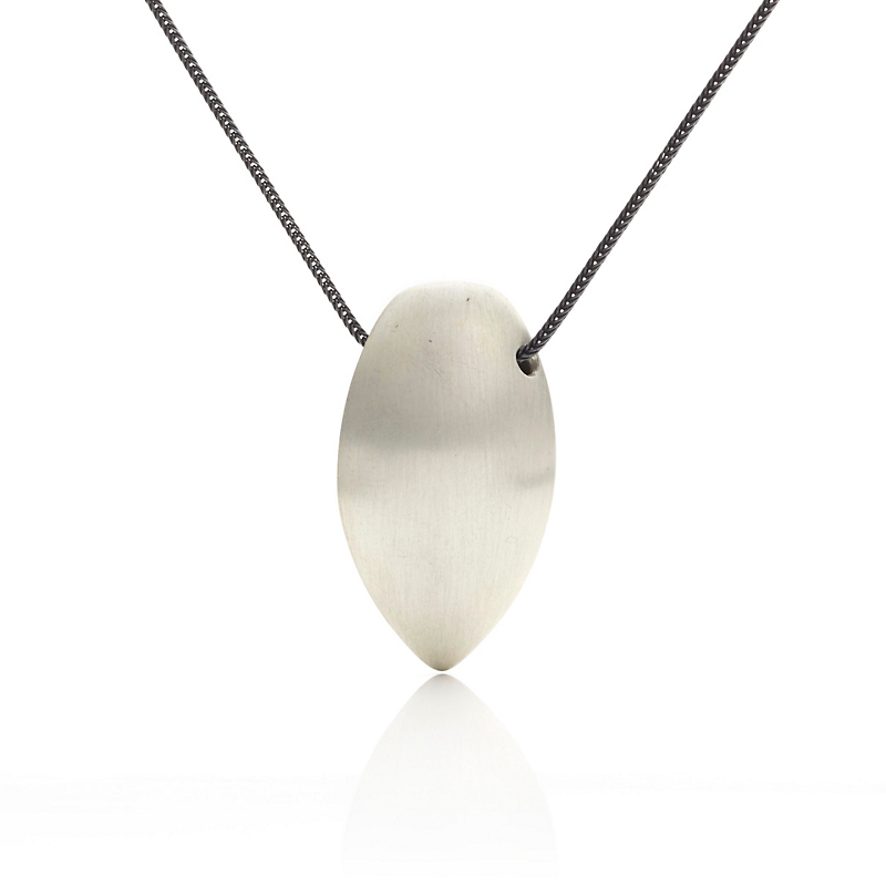 Gabriella Kiss Silver Almond Pendant Necklace