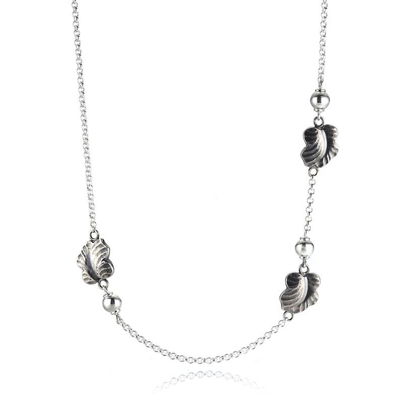 Georg Jensen Moonlight Grapes Sterling Silver Station Necklace