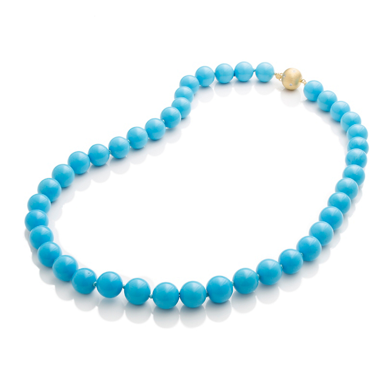 Gump's Turquoise Bead Necklace