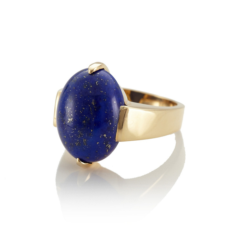 Gump's Lapis Two-Prong Ring