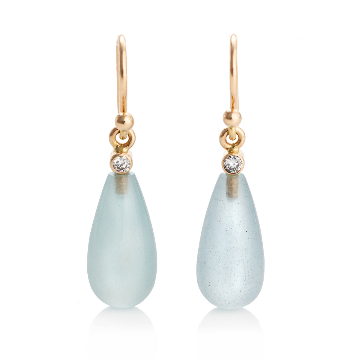 Gump's Aquamarine And Diamond Earrings