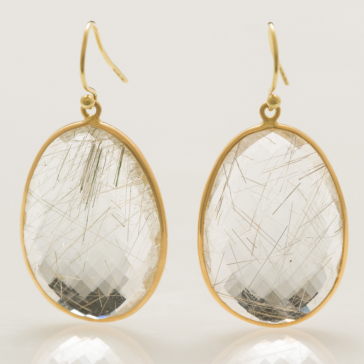 Kothari Faceted Rutilated Quartz Earrings