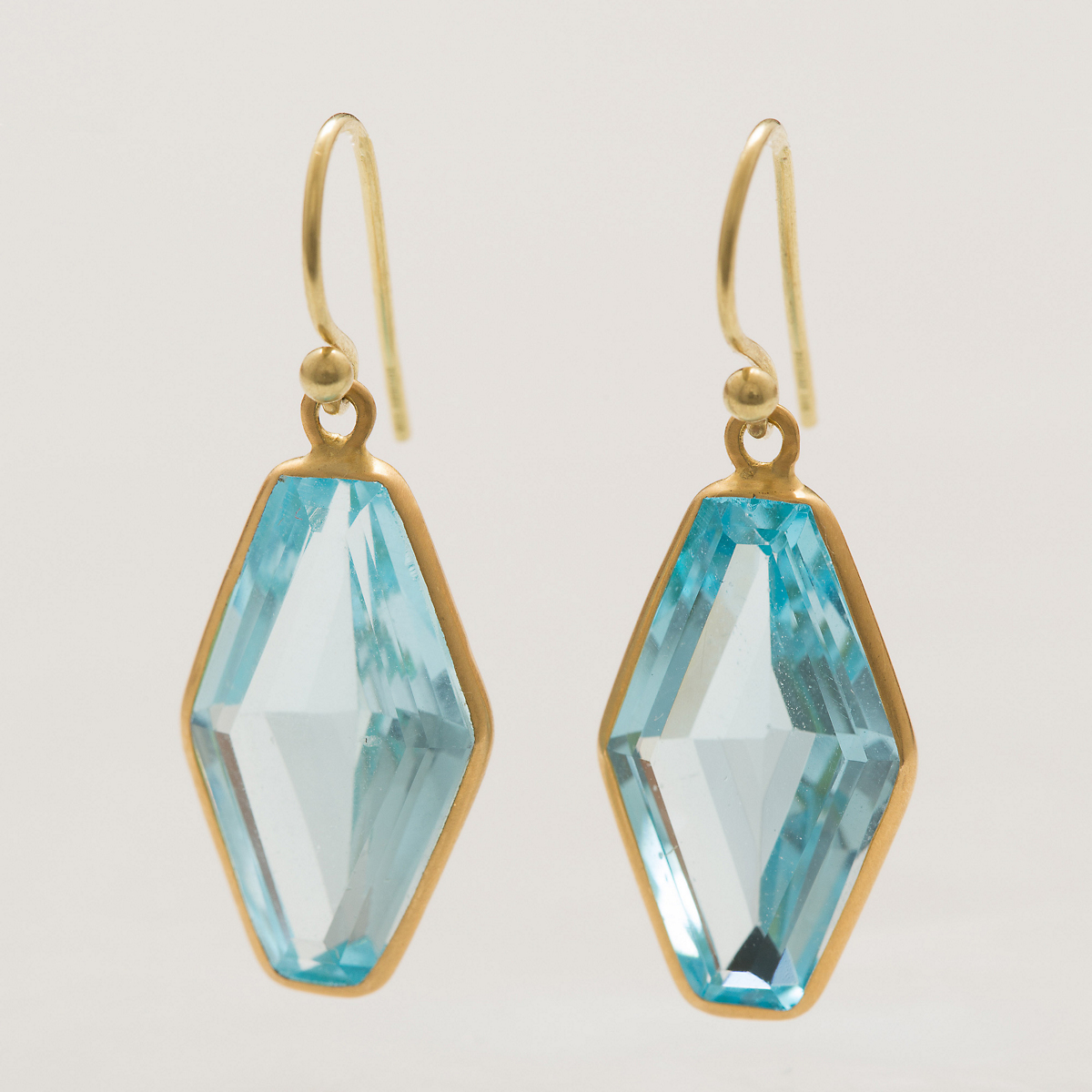 Kothari Blue Topaz Kite Earrings